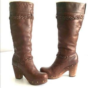 UGG Savannah Tall Leather Shearling Boots